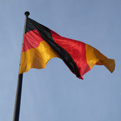 Niemiecka flaga — Zdjęcie stockowe