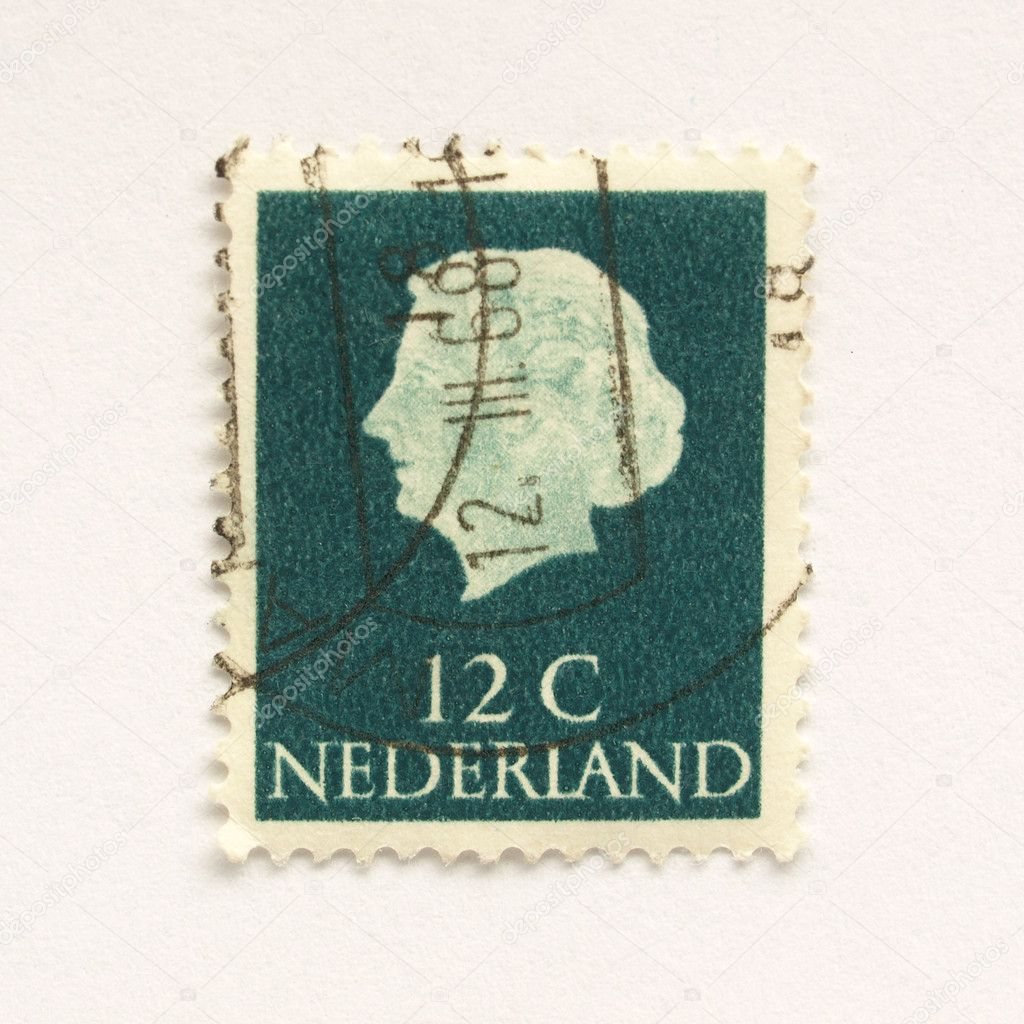Stamp of the Netherlands (in European Union) — Stock Photo #7431568
