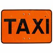 Taxi sign isolated — 图库照片