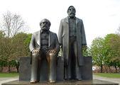 Marx-Engels Forum statue — Stock Photo