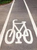 自転車レーンの記号 — ストック写真