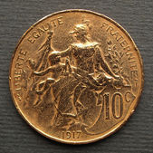 French coin — Stock Photo