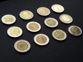 欧元硬币 — 图库照片