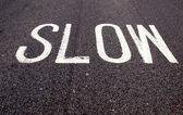 Slow sign — Stock Photo