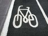 Bike lane sign — Stock fotografie