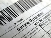 Customs declaration — 图库照片