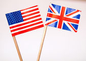 British and American flags — Stock Photo