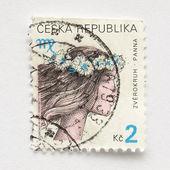 Tjeckiska frimärken — Stockfoto