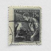 Czech stamp — Stock Photo