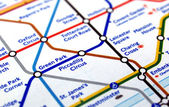 Tube map of London underground — Stock Photo