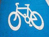Bike lane sign — Stock Photo