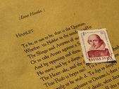 威廉 · 莎士比亚哈姆雷特 — 图库照片