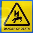 Danger of death Electric shock — Stock Photo