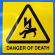 Danger of death Electric shock — Zdjęcie stockowe