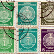 DDR stamps — Stock Photo
