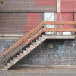 Old industrial stair — Stock Photo
