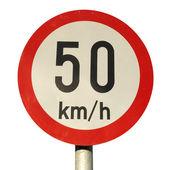 Señal de límite de velocidad — Foto de Stock