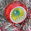 Christmas bauble and tinsel — Stock Photo #7564404
