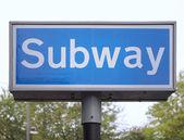 Subway tecken — Stockfoto