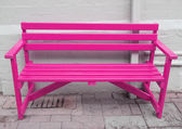 Pink bench — Stock Photo