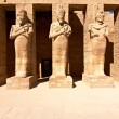 Pharaoh statues in Karnak temple — Stock Photo
