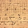 Part of a wall with hieroglyphs in Karnak temple, Egypt - Photo