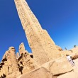 View of the Karnak temple with Obelisk — Stock fotografie