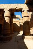 Columns with ancient egypt hieroglyphics — Stock Photo