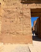 Parte di un muro con geroglifici — Foto Stock