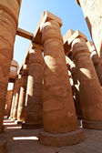 Great hypostyle hall with giant lotus columns — Stock Photo