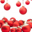 Christmas baubles with space for text — Stock Photo