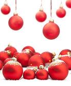 Palline di Natale con spazio per il testo — Foto Stock