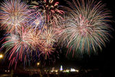 Fuochi d'artificio e Fiera — Foto Stock