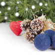 Stock Photo: Christmas background with copyspace