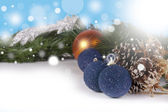 Christmas background with copyspace — Stock fotografie