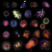 Fireworks samples — Stock Photo