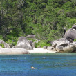 Snorkeling at Similan islands - Stock Photo