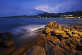 View of Karon beach at dawn — Stock Photo