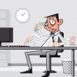Stressed overworked businessman — Stock Photo
