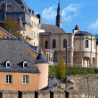 Beautiful cityscape view of Luxembourg city - Stock Photo
