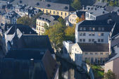 Beauty view of luxembourg city houses — Stock Photo