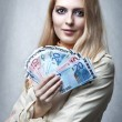 Portrait of woman with money — Stock Photo #7201744
