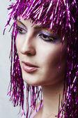 Beautiful Female face closeup — Stock Photo