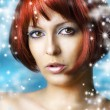 Winter natural beauty make up and spa — ストック写真