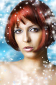 Winter natural beauty make up and spa — Stock Photo