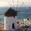 Royalty-Free Stock Photo: Windmills of sunny Mykonos (Greece, Cyclades)