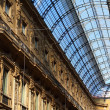 Glass gallery - Galleria Vittorio Emanuele - Milan - Italy — Stock Photo