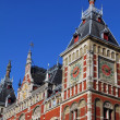 Stock Photo: Holland, Amsterdam, view of Central Railway Station facade