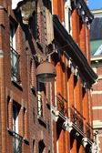 Architektura dom w amsterdamie — Zdjęcie stockowe