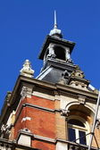 Church Tower over blue sky — Stock Photo